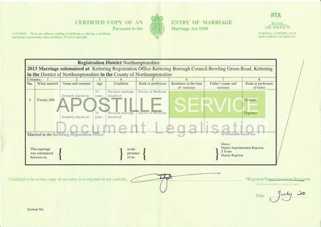 Apostille For Marriage Certificate  Apostille Service