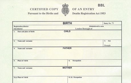 Replacement Birth Certificate  Order Today
