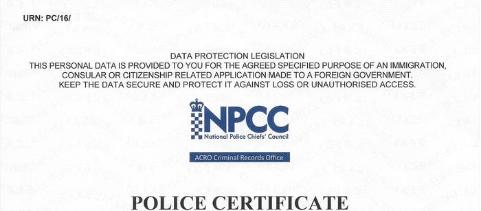 Acro Police Certificate >> Apostille For Criminal Record Checks